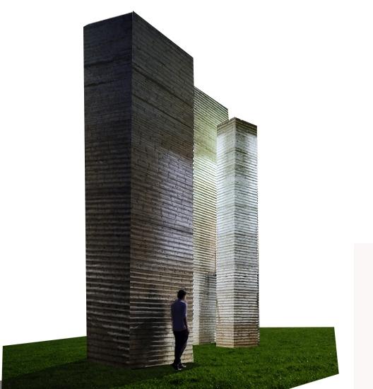 Monumento a víctimas del terremoto L'Aquila 2009